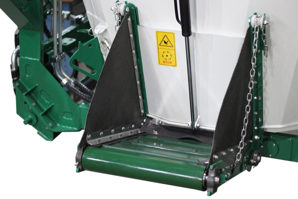 Bica de descarga por gravidade ou por esteira de PVC